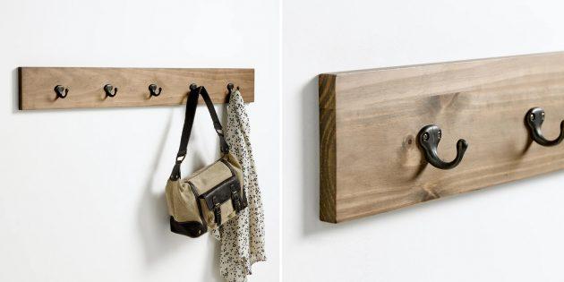 Органайзеры для одежды и аксессуаров: настенная вешалка с крючками