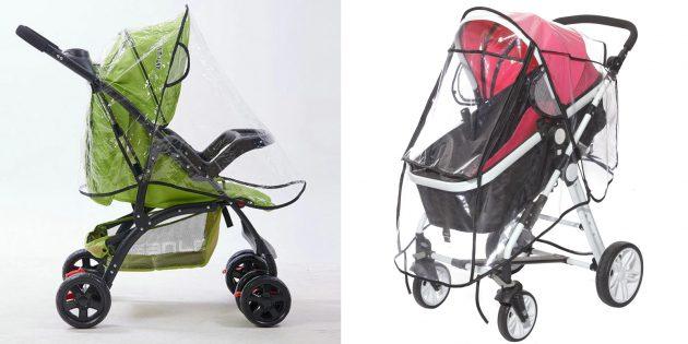Аксессуары для дождливой погоды: дождевик для коляски