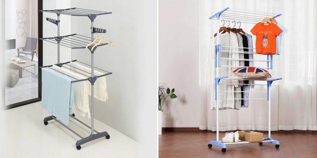 Органайзеры-вешалки для одежды и аксессуаров: трёхуровневая сушилка