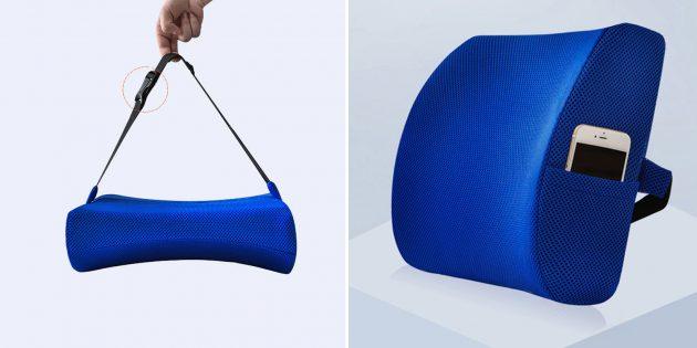 Ортопедическая автомобильная подушка для спины ZD68