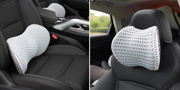 Ортопедические автомобильные подушки для поясницы и шеи Srimxs