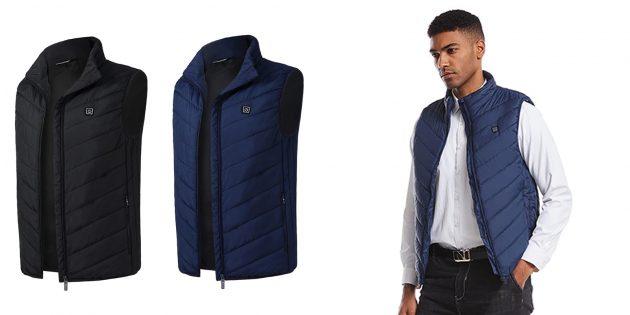 Куртки и жилеты с подогревом: Жилет из материала polartec