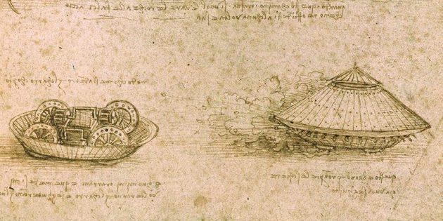 Изобретения Леонардо да Винчи: тактический боевой танк из дерева