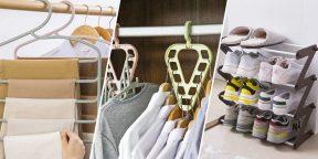 9 вешалок-органайзеров для хранения одежды и аксессуаров