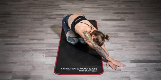 Упражнения при остеохондрозе: Растяжка квадратной мышцы поясницы