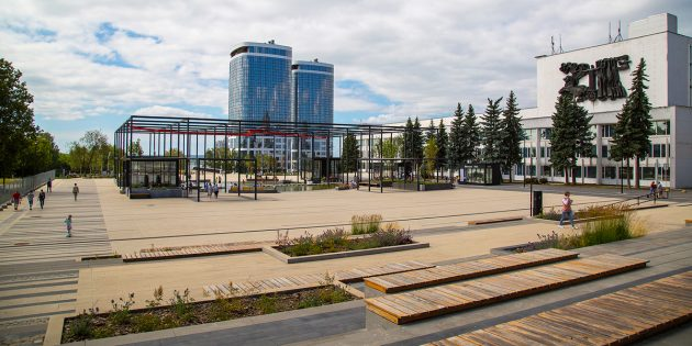 Примеры благоустройства: центральная площадь в Ижевске