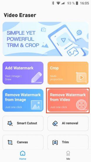 Как убрать водяной знак с видео на Android-устройствах: тапните Remove Watermark from Video