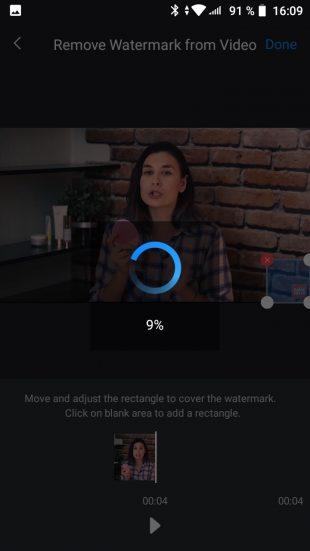 Как убрать водяной знак с видео в Android: подождите