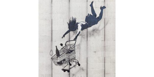 Общество потребления и искусство. Граффити Бэнкси «Покупай, пока не упал»