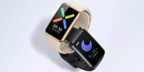 OPPO выпустила смарт-часы Watch Free с автономностью до 14 дней