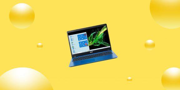 Выгодно: ноутбук Acer Aspire 3 с предустановленной Windows 10 за 41 399 рублей