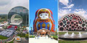 Кошмар трипофоба, храм-скрипка и гигантская матрёшка: в Китае выбирают самое уродливое здание