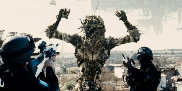 Кадр из научно-фантастического фильма «Район №9»