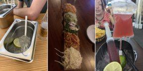 Лучше бы в тарелке: 20 примеров странной ресторанной подачи еды и напитков