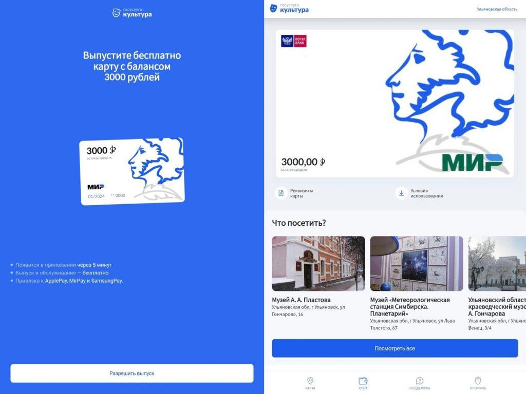 Как оформить виртуальную «Пушкинскую карту»