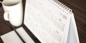 Как отдыхаем в 2022 году: календарь выходных и праздников