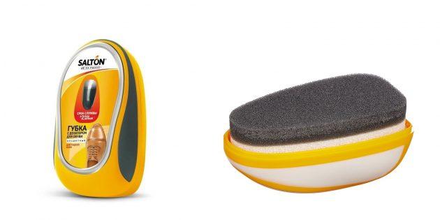 Уход за осенней обувью предусматривает губку с дозатором