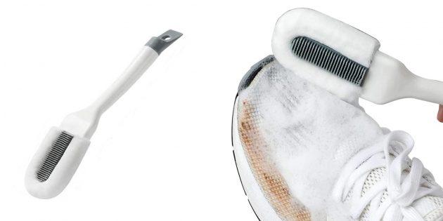 Щётка с микрофиброй для обуви