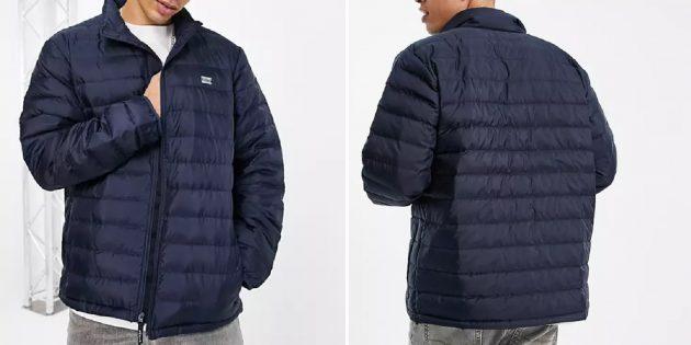 Мужская стёганая утеплённая куртка