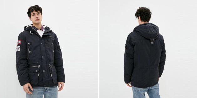 Мужская утеплённая куртка со множеством карманов