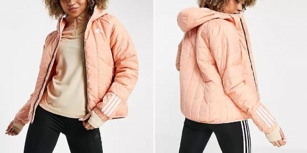 Женская утеплённая куртка из переработанных материалов