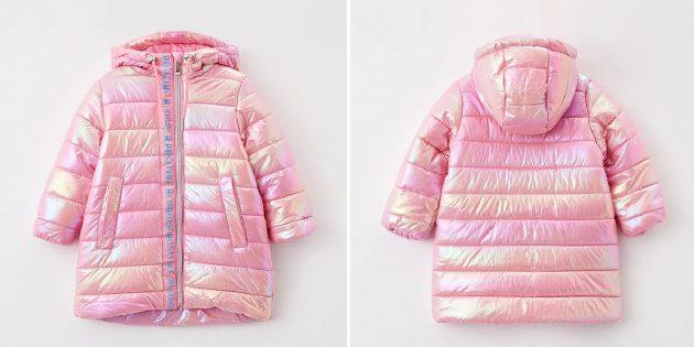 Детская перламутровая утеплённая куртка