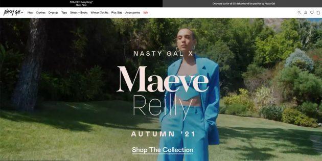 Интернет-магазины с международной доставкой: Nastygal