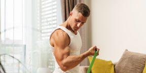 Тренировка с лентой-эспандером для мужчин