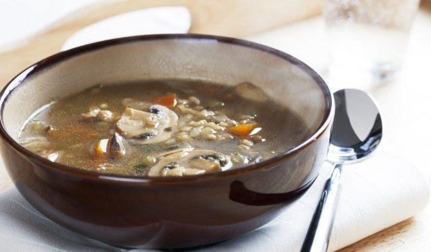 Суп из баранины с перловкой и грибами