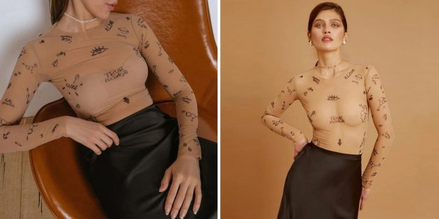 Боди с «татуировками»