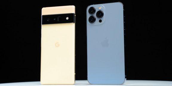Скорость работы iPhone 13 Pro Max и Google Pixel 6 Pro сравнили на видео