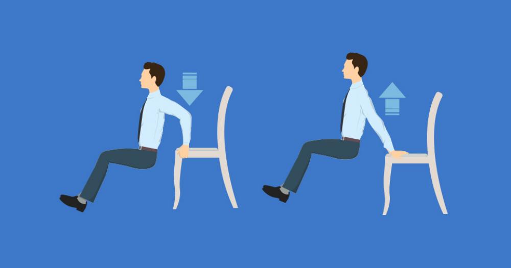 Комплекс из 15 упражнения для офисных работников