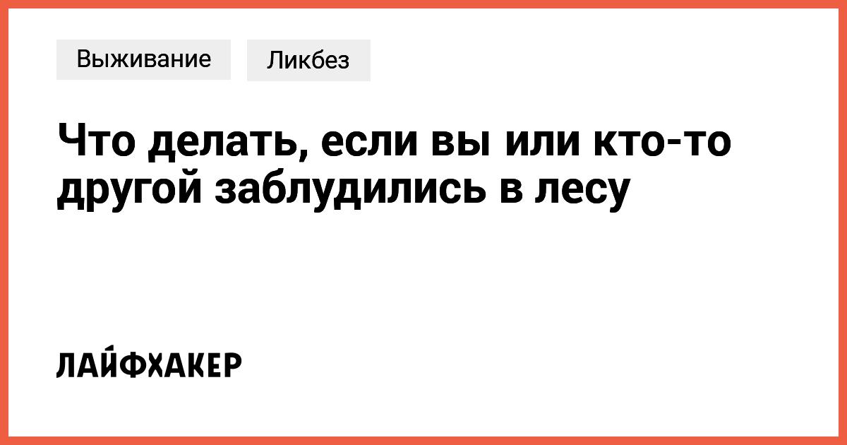 Что делать если заблудился в лесу. Советы которые помогут выжить