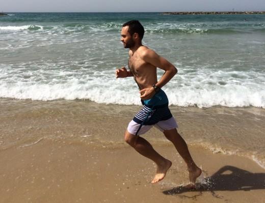 Running a beach