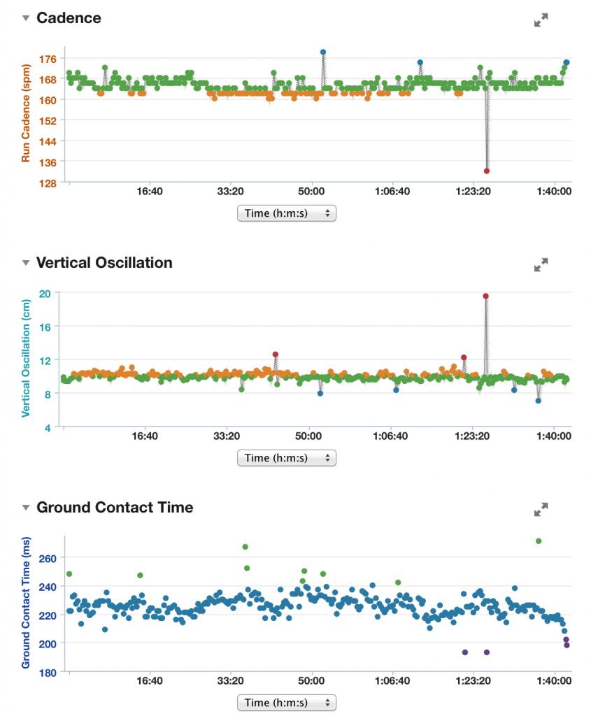 Garmin Connect running dynamics