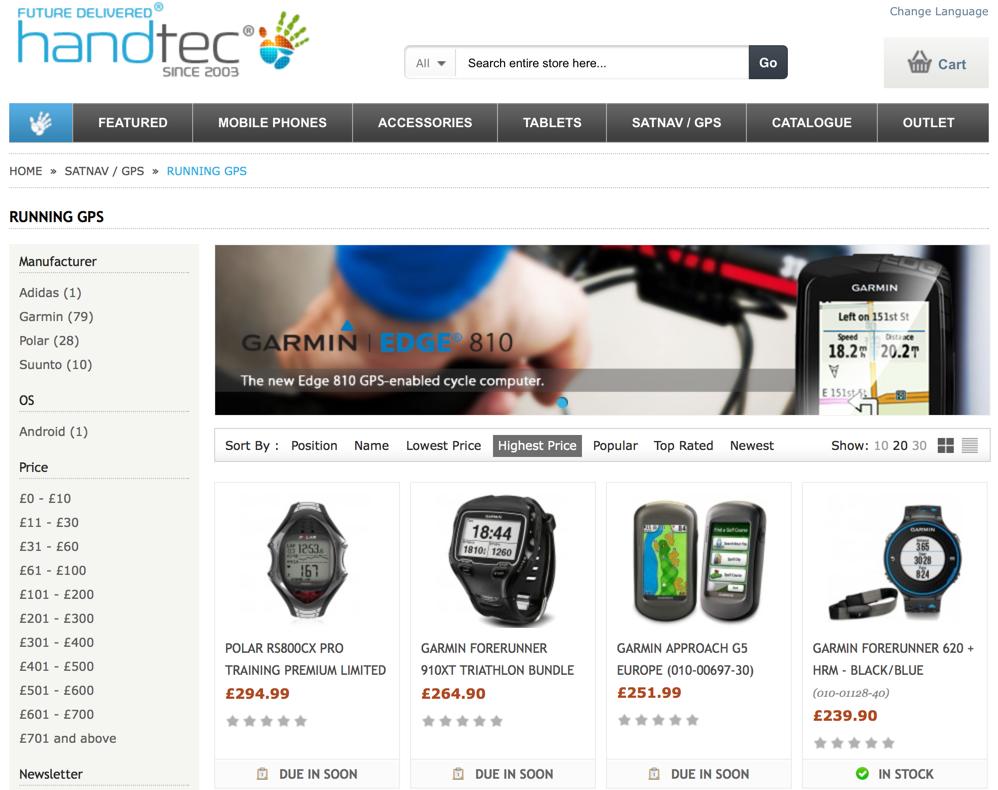 9f33ade57cc8 Ещё один британский магазин, и, хотя он специализируется не на спортивных  вещах, а на разной электронике, в нём можно купить беговые или триатлонные  часы и ...