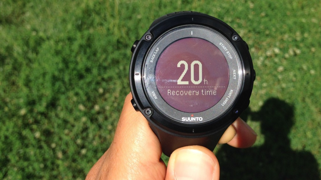 Suunto Ambit2 Recovery time
