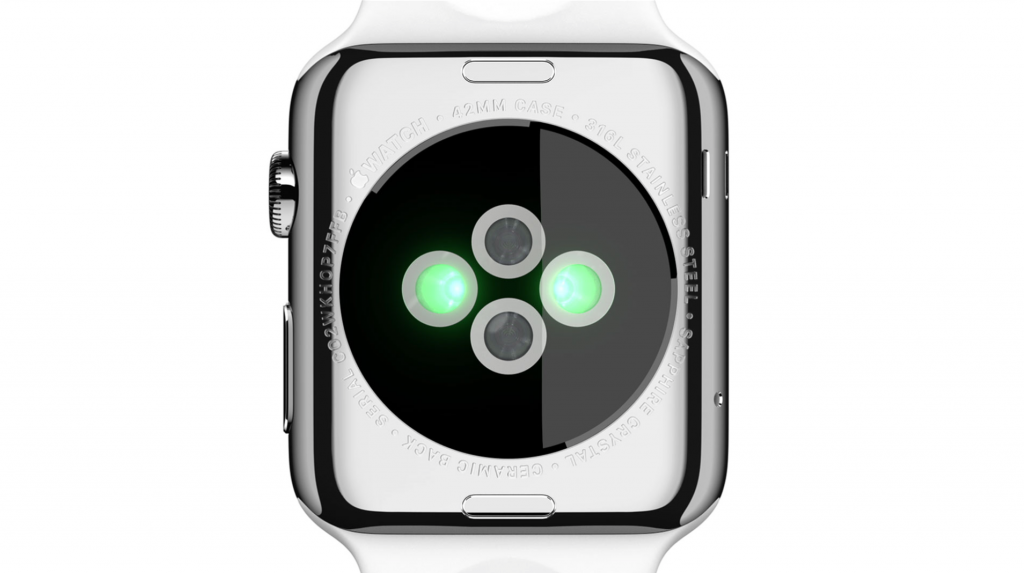 Кардиодатчик в Apple Watch Sport