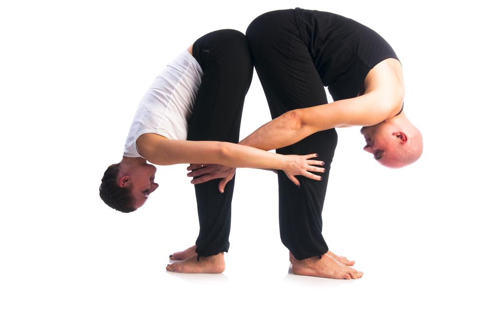 Позы сексуальной парной йоги